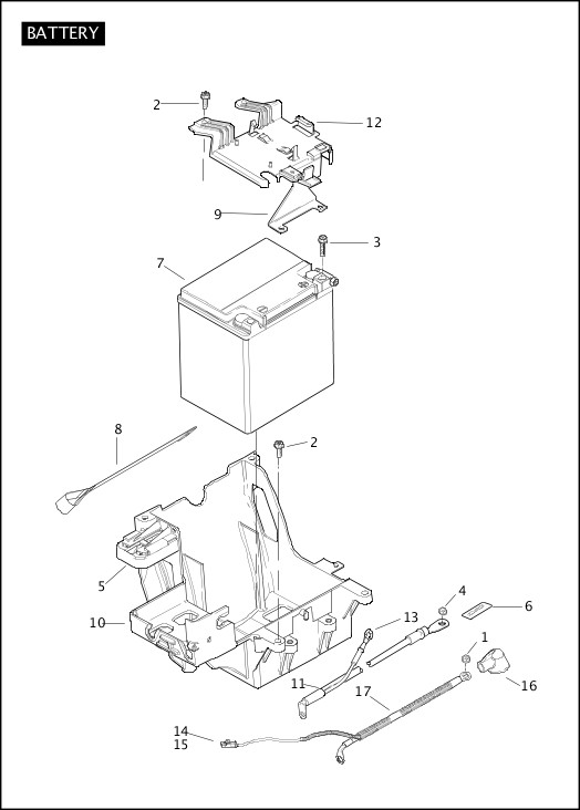 BATTERY|2012 Trike Model Parts Catalog