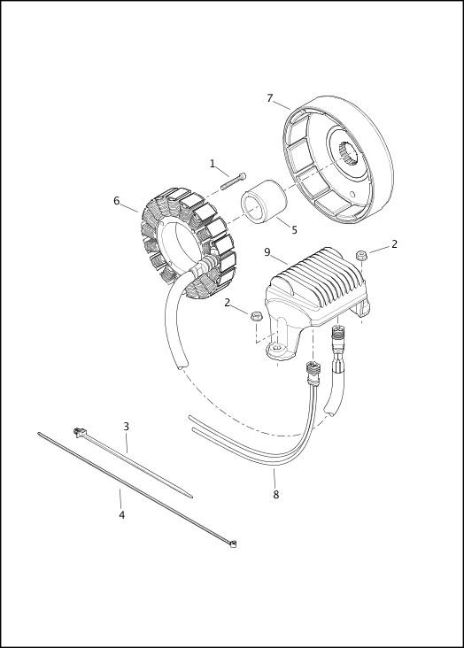 ALTERNATOR & REGULATOR|2014 Trike Model Parts Catalog