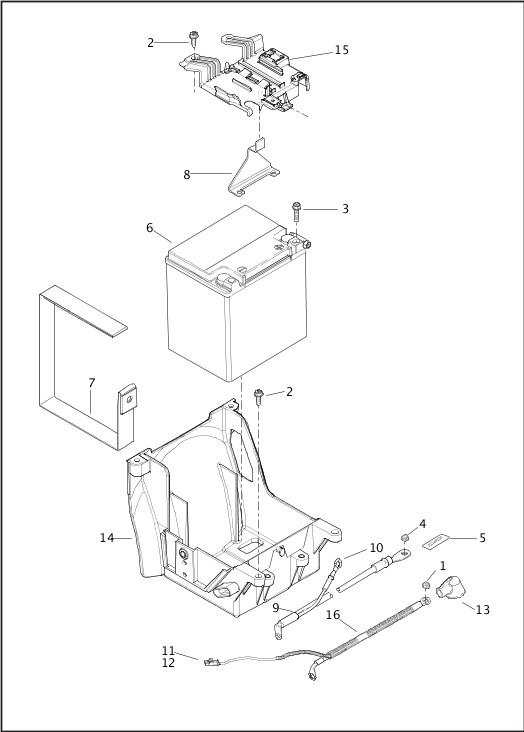 BATTERY|2014 Trike Model Parts Catalog