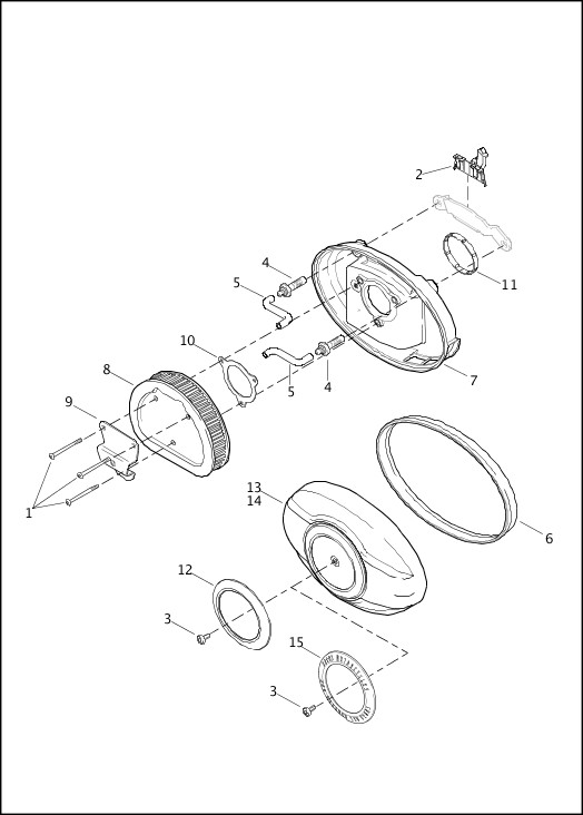 AIR CLEANER|2013 Trike Model Parts Catalog