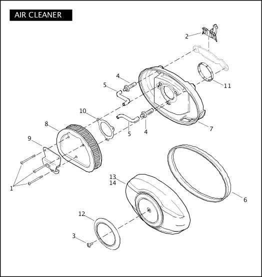 AIR CLEANER|2010 Trike Model Parts Catalog