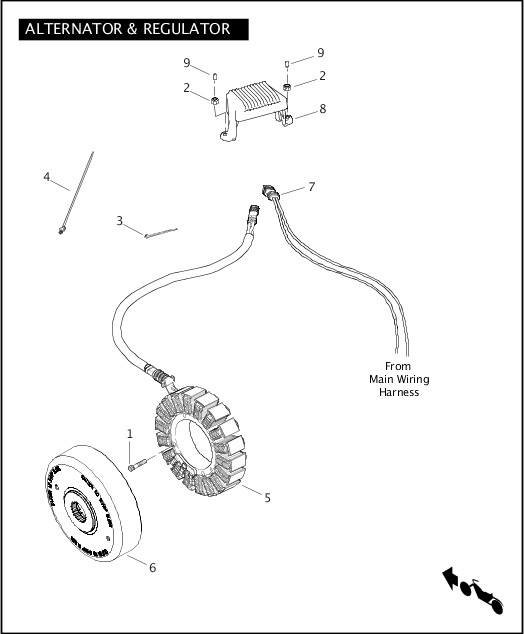 ALTERNATOR & REGULATOR|2011 Trike Model Parts Catalog