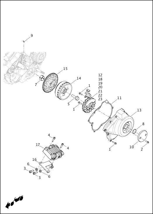 ALTERNATOR AND REGULATOR|2016 Street Models Parts Catalog