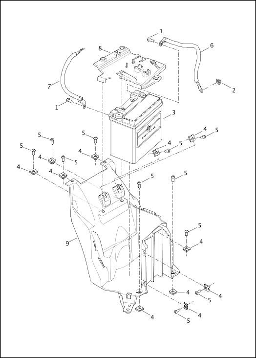 BATTERY|2015 Street Models Parts Catalog