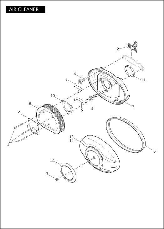 AIR CLEANER|2012 Trike Model Parts Catalog