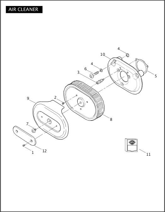 AIR CLEANER|2011 FLTRUSE Parts Catalog