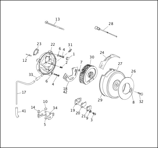 AIR CLEANER & ENRICHMENT CABLE (1 OF 2)|1991-1992 Softail Models Parts Catalog
