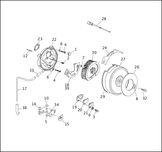 AIR CLEANER & ENRICHMENT CABLE (1 OF 2)|1991-1992 Dyna Models Parts Catalog