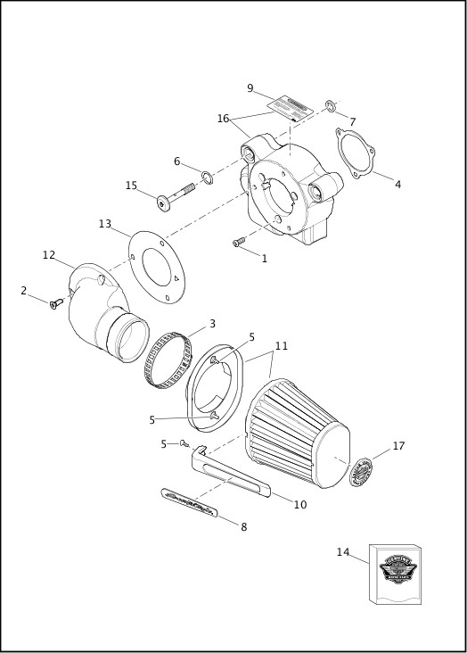 AIR CLEANER|2017 FXSE Parts Catalog
