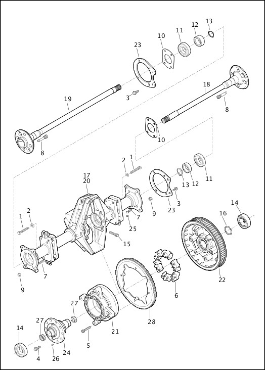 AXLE ASSEMBLY, REAR|2018 Trike Models Parts Catalog
