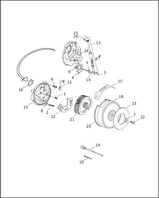 AIR CLEANER & ENRICHENER|1999 FXR2 Parts Catalog