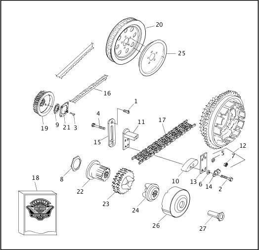 BELT, CHAIN & SPROCKETS|1999 FXR2 Parts Catalog