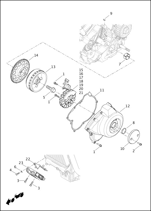 ALTERNATOR AND REGULATOR|2017 Street Models Parts Catalog