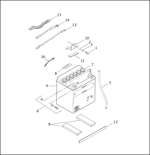 BATTERY|1999 FXR2 Parts Catalog