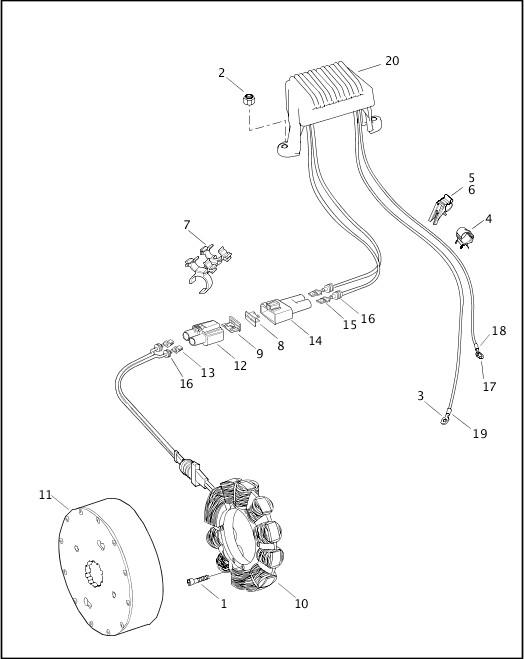 ALTERNATOR & REGULATOR|2001 FLTRSEI2 Parts Catalog