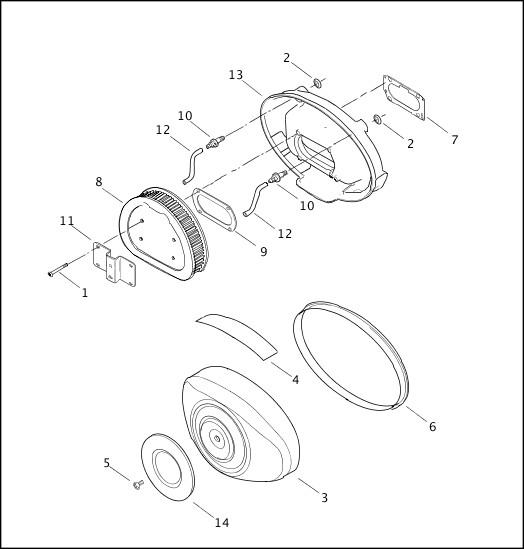 AIR CLEANER|2001 FLTRSEI2 Parts Catalog