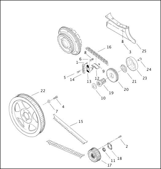 BELTS, CHAINS & SPROCKETS|2001 FLTRSEI2 Parts Catalog