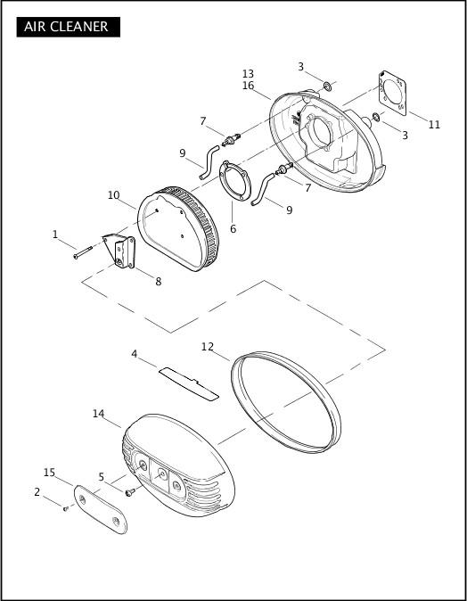 AIR CLEANER|2006 FLHTCUSE Parts Catalog