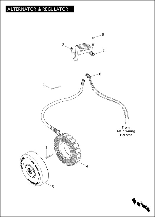 ALTERNATOR & REGULATOR|2012 FLHTCUSE7 Parts Catalog