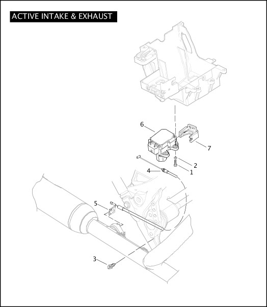 ACTIVE INTAKE & EXHAUST|2010 FLHTCUSE5 Parts Catalog