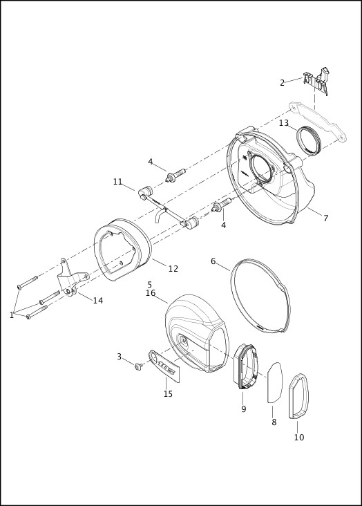 AIR CLEANER - TWIN CAM 103™|2014 FLHTKSE Parts Catalog
