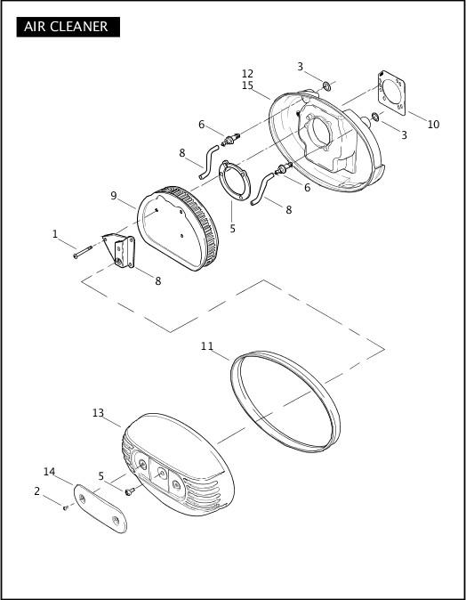 AIR CLEANER|2007 FLHTCUSE2 Parts Catalog
