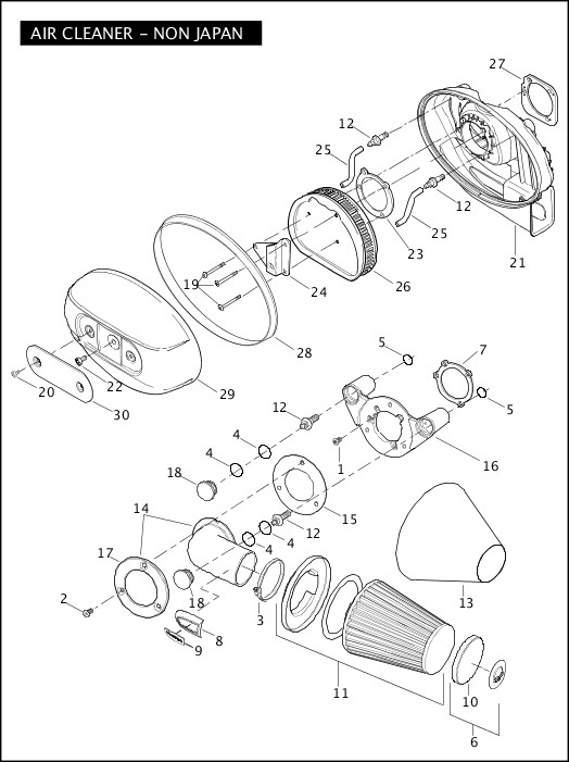 AIR CLEANER - NON JAPAN|2010 FXDFSE2 Parts Catalog