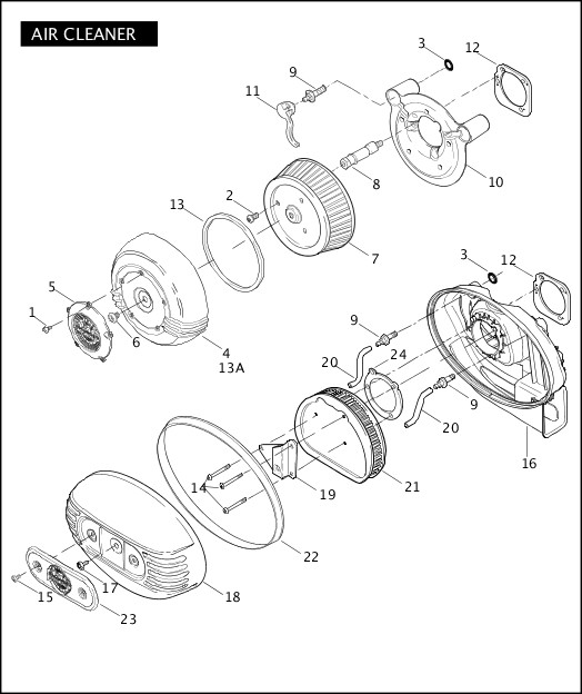 AIR CLEANER|2007 FXDSE Parts Catalog