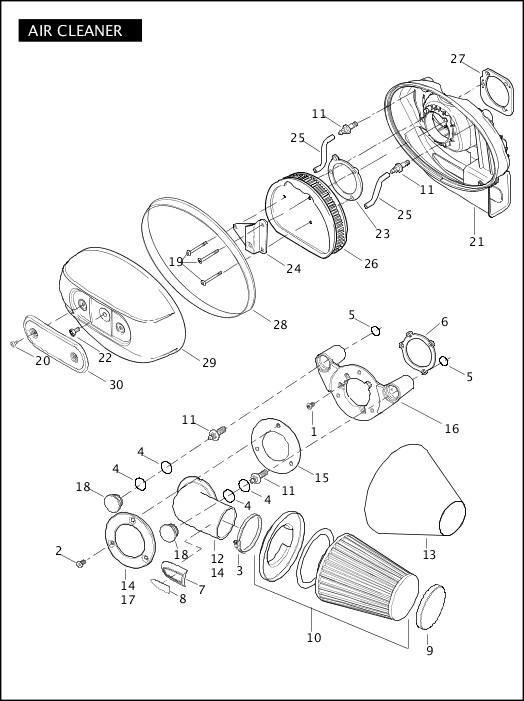 AIR CLEANER|2009 FXDFSE Parts Catalog