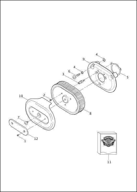 AIR CLEANER|2015 FLSTNSE Parts Catalog