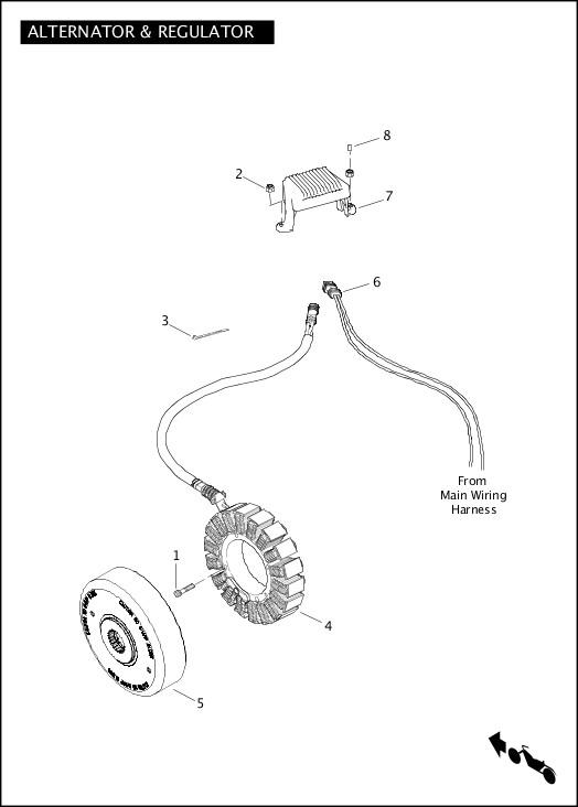 ALTERNATOR & REGULATOR|2012 FLTRXSE Parts Catalog
