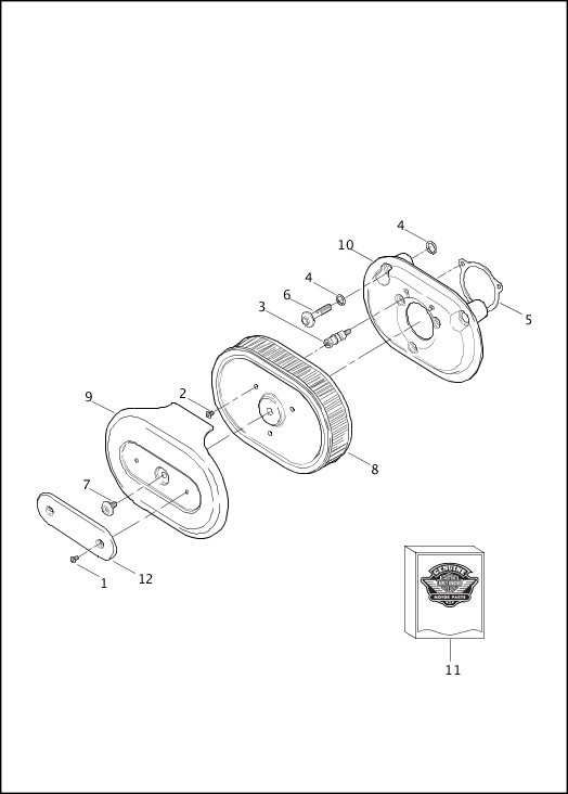 AIR CLEANER|2013 FLHRSE5 Parts Catalog