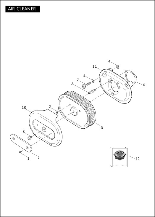 AIR CLEANER|2011 FLHXSE2 Parts Catalog