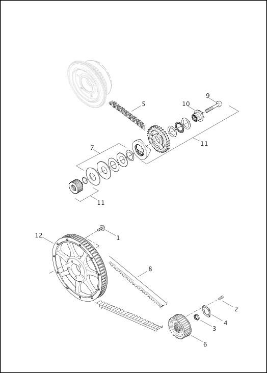 BELT, CHAINS & SPROCKETS|2014 FLSTNSE Parts Catalog