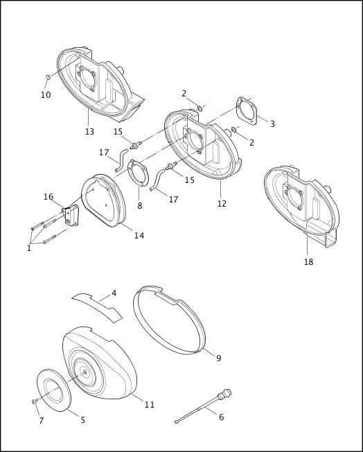 AIR CLEANER & ENRICHENER|2001 Dyna Models Parts Catalog