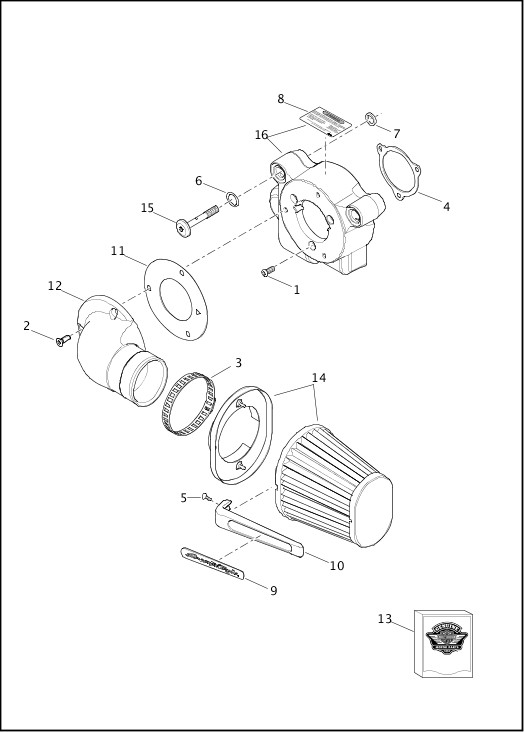 AIR CLEANER - TWIN CAM 110™|2014 FLHRSE Parts Catalog