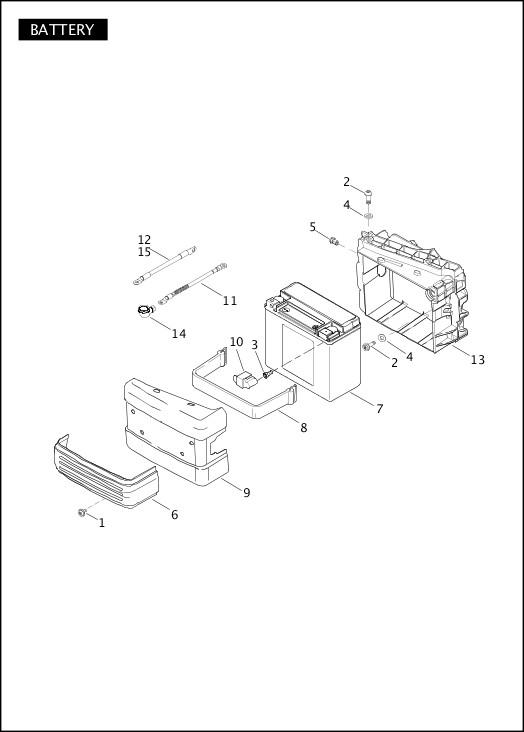 BATTERY|2011 Dyna Models Parts Catalog