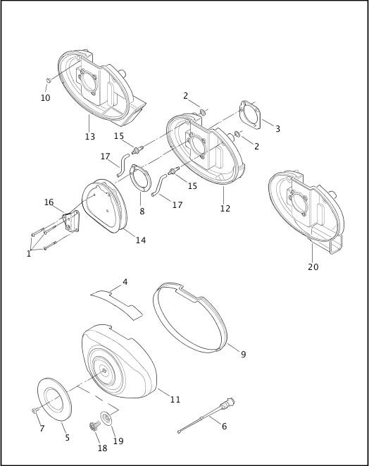 AIR CLEANER & ENRICHENER|2003 Dyna Models Parts Catalog