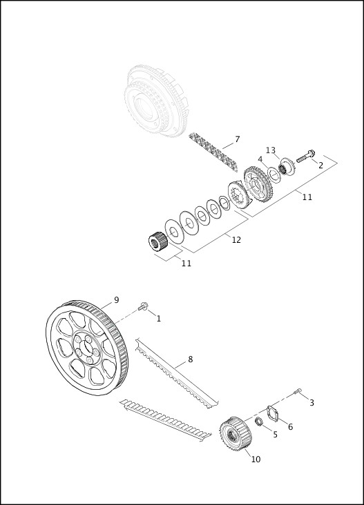 BELTS, CHAINS & SPROCKETS|2013 Dyna Models Parts Catalog