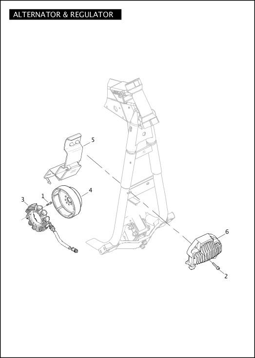ALTERNATOR & REGULATOR|2012 Dyna Models Parts Catalog