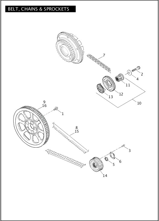 BELTS, CHAINS & SPROCKETS|2011 Dyna Models Parts Catalog
