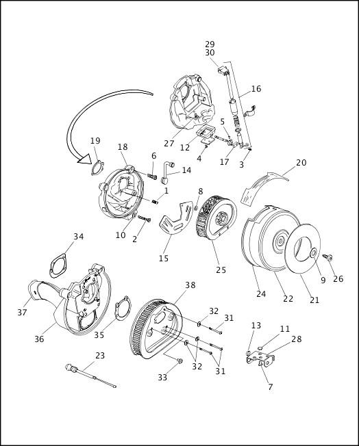 AIR CLEANER & ENRICHENER|1997 Dyna Models Parts Catalog
