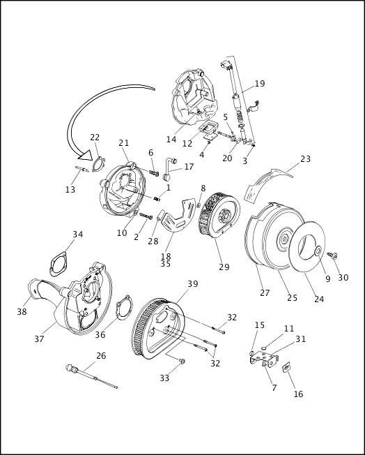 AIR CLEANER & ENRICHENER|1995-1996 Dyna Models Parts Catalog