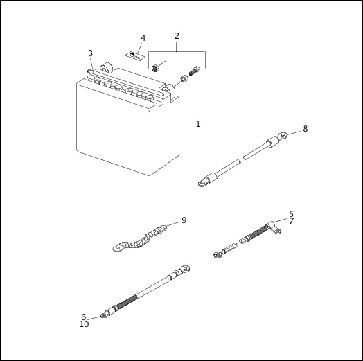 BATTERY 1995-1996 Dyna Models Parts Catalog