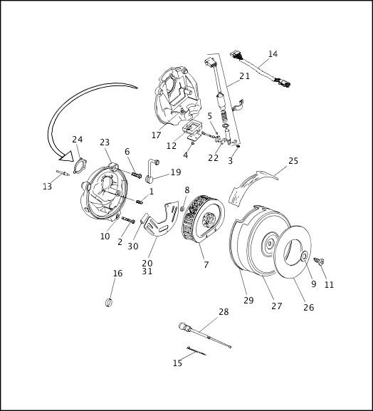 AIR CLEANER & ENRICHENER (2 OF 2)|1993-1994 FXR Models Parts Catalog