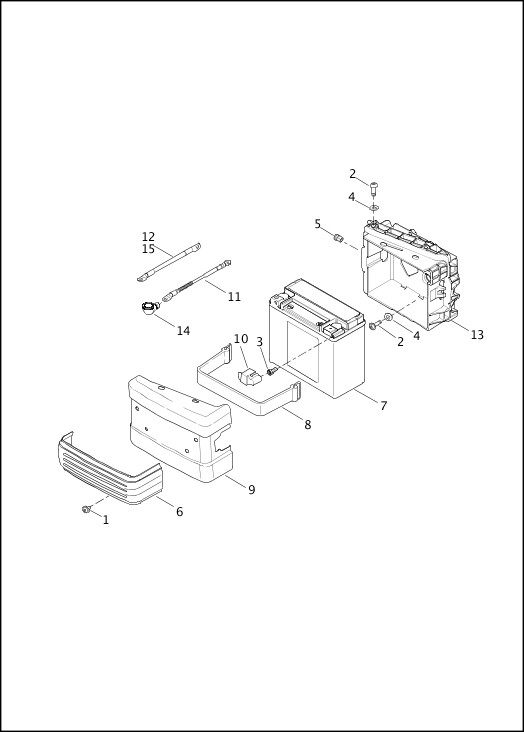 BATTERY 2016 Dyna Models Parts Catalog