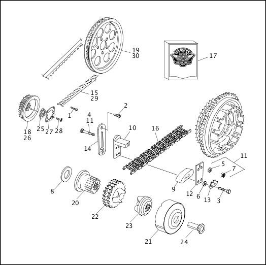 BELTS, CHAINS & SPROCKETS (2 OF 2) 1991-1992 FXR Models Parts Catalog
