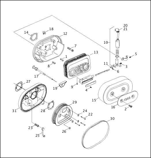 AIR CLEANER & ENRICHENER|2000 XLH Models Parts Catalog