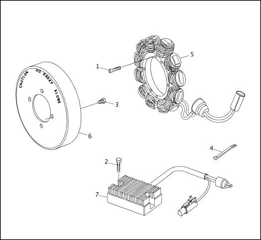 ALTERNATOR & REGULATOR|2000 XLH Models Parts Catalog
