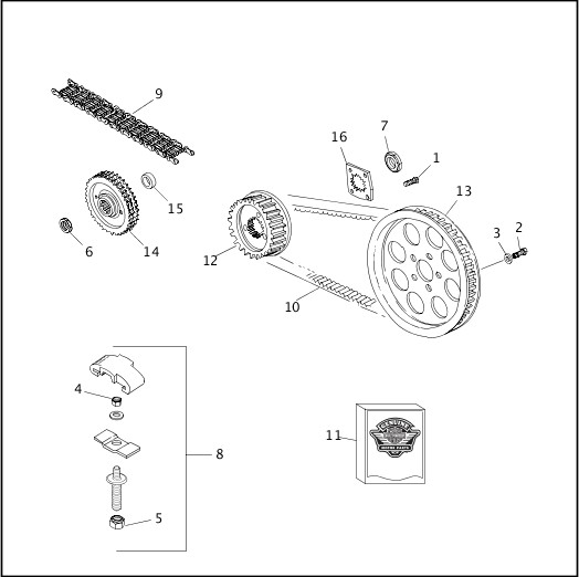 BELTS & SPROCKETS|2000 XLH Models Parts Catalog